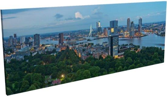 ... schilderij (115 x 45 cm) Panorama Rotterdam / Euromast / Augustus 2013