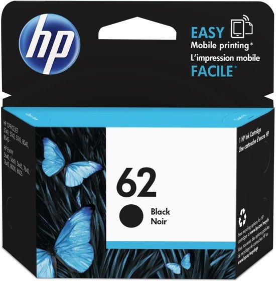 HP 62 - Inktcartridge / Zwart (C2P04AE)