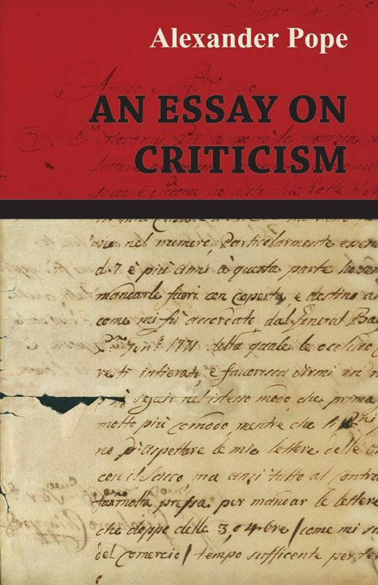 essay of criticism by alexander pope analysis