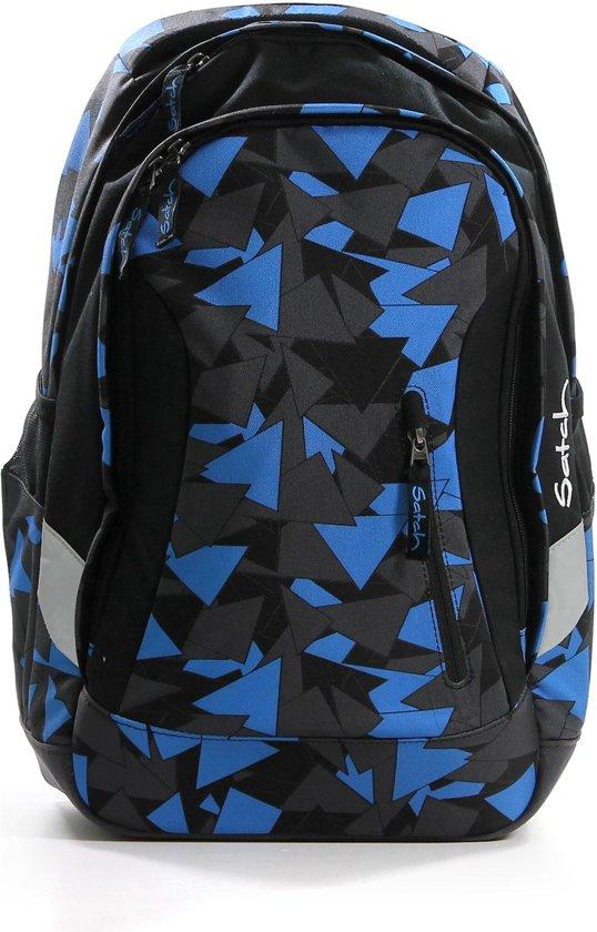 Satch - 2 vakken - Schooltas - Buikriem - A4 - Rugzak - Blauw in Piershil