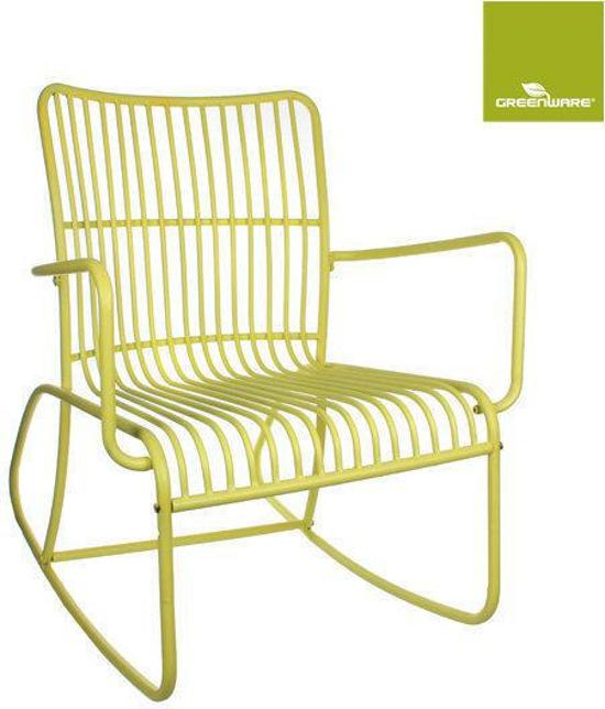 bol.com : Greenware - Retro schommelstoel - Licht geel : Tuin