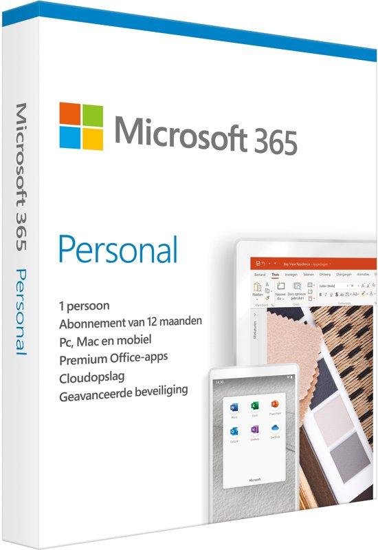 Microsoft Office 365 Personal - Nederlands - 1 jaar abonnement