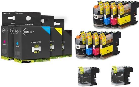 Brother Huismerk LC123 MediaHolland compatible inktpatronen Set 10 stuks