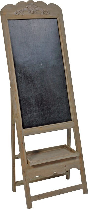 Schoolbord hout bruin op standaard 170cm in Langerak