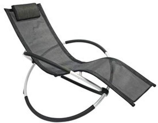 Leco ligbed schommelstoel zwart for Design liegestuhl