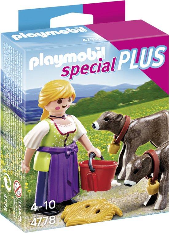 Playmobil Boerin Met Kalfjes - 4778 in \'t Vlot