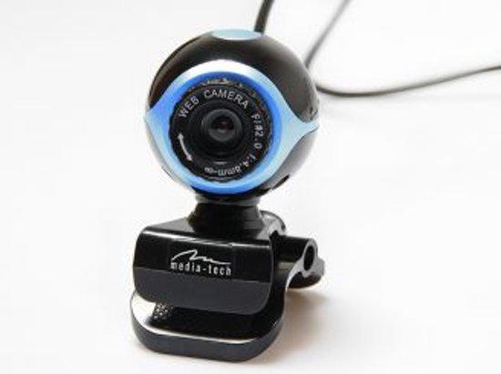 Media-Tech VGA camera in blauw met ingebouwde microfoon en USB in Beerst