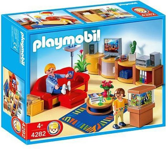 Playmobil grote woonkamer 4282 playmobil for Salle a manger playmobil city life