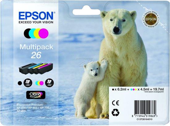 Epson 26 (T2616) - Inktcartridge / Zwart / Geel / Magenta / Cyaan