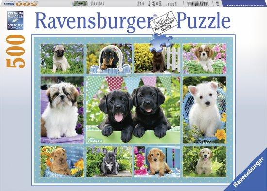 Ravensburger Snoezige hondjes. Puzzel van 500 stukjes in Hout