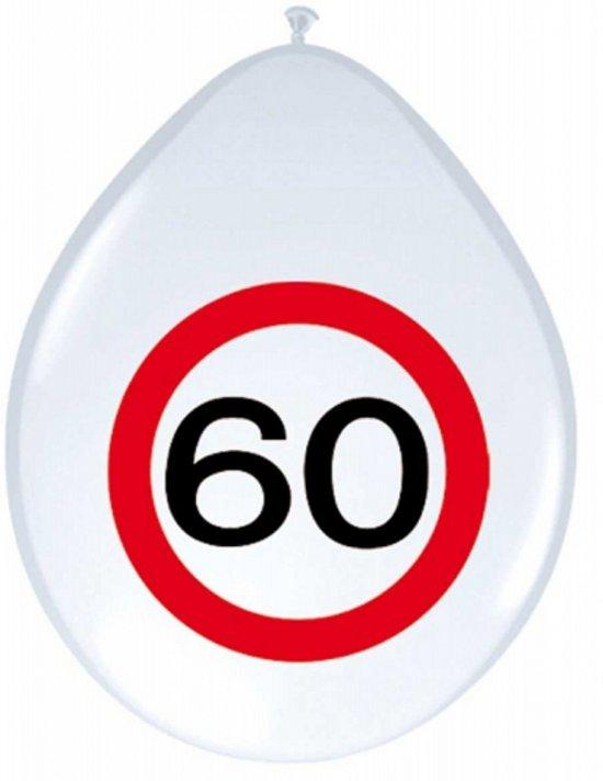 Ballonnen 60 jaar verkeersbord in Grammene