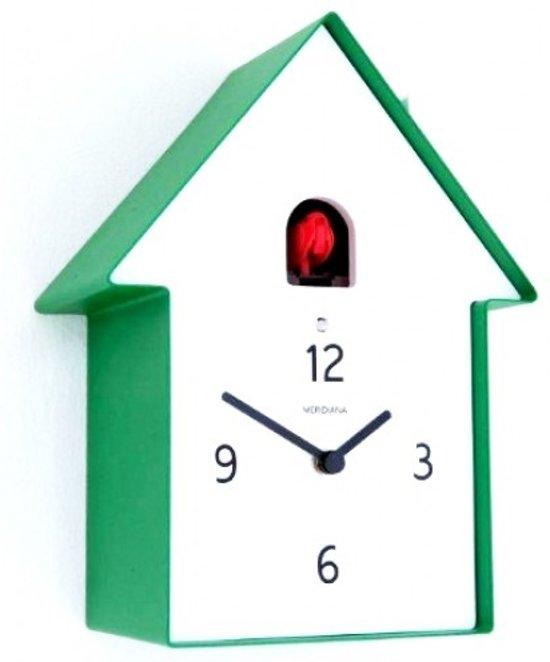 Koekoeksklok klok huis metaal 20x11 cm groen - Groen huis model ...
