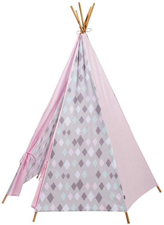 tipi met stokken Wieber Pink Tipi wieber pink incl. stokken in Witman