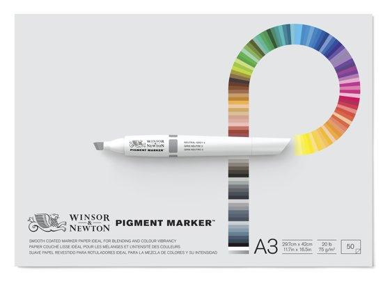 Winsor & Newton Pigment Marker papier blok A3 in Villers-sur-Lesse