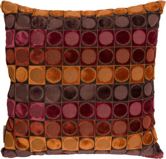 dutchbone ottava sierkussen rood oranje