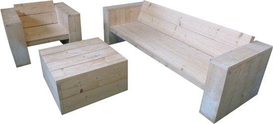 Loungeset diep van steigerhout for Tuinbank steigerhout aanbieding