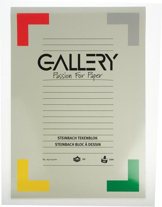 Gallery Steinbach tekenblok gekorreld formaat 297 x 42 cm (A3) 200 g/m² blok van 20 vel