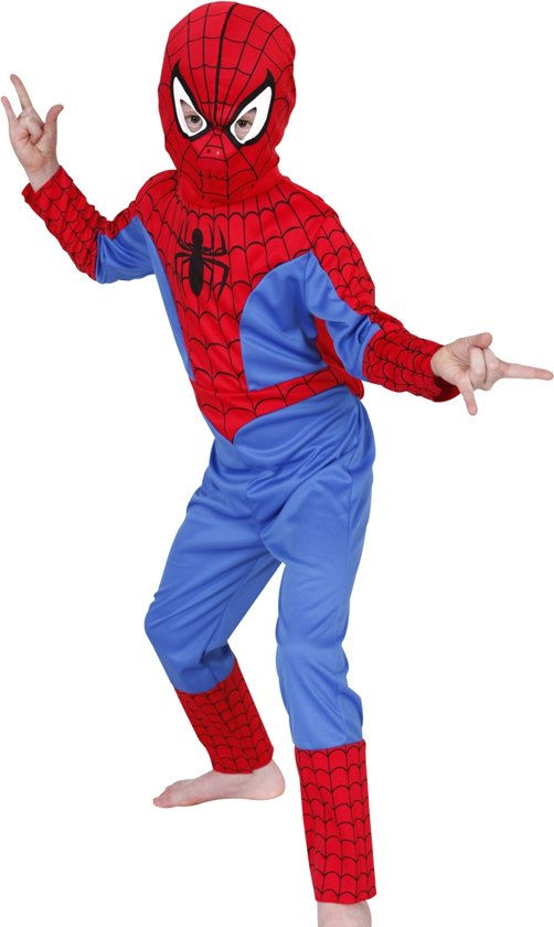 Spider-Man - Carnavalskleding - Maat L - 7-8 jaar in Middel