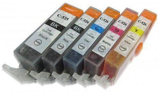 Canon CLI526/PGI525 Set MediaHolland Compatible 5 stuks met chip