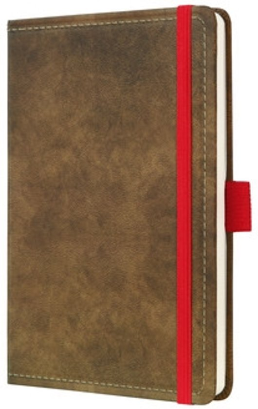 notitieboek Sigel Conceptum 194blz hard Vintage Brown 95x150mm gelinieerd in Bong