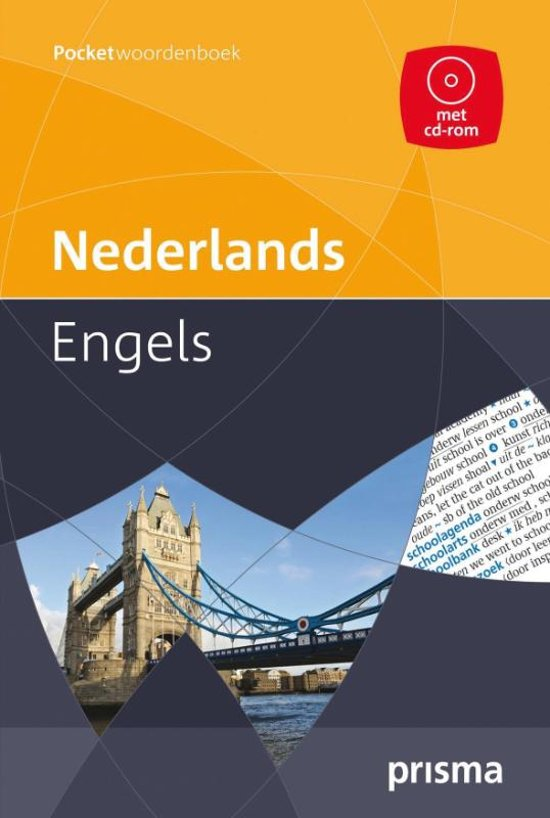 Prisma pocketwoordenboek Nederlands-Engels + CD-ROM in Zandheuvel