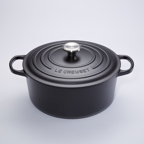 le creuset signature braadpan 12 4 liter 34 cm zwart. Black Bedroom Furniture Sets. Home Design Ideas