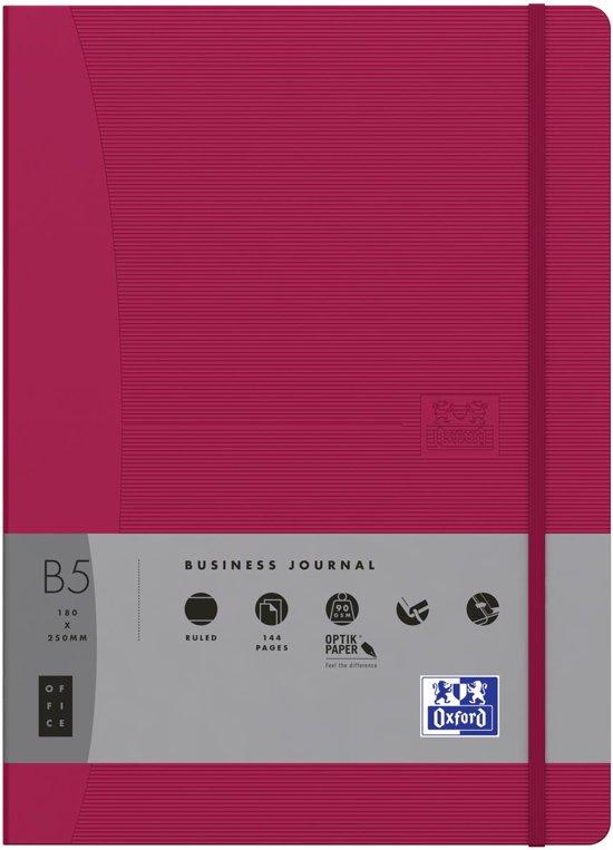 Oxford OFFICE Signature business journal 144 bladzijden formaat A5 geruit 5 mm roze in Erpe-Mere