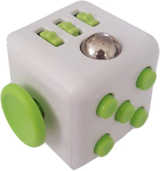 Friemelbox Wit/Groen - Stress Verminderende SpeelKubus - Rustgevend bij Autisme & ADHD in Zuienkerke