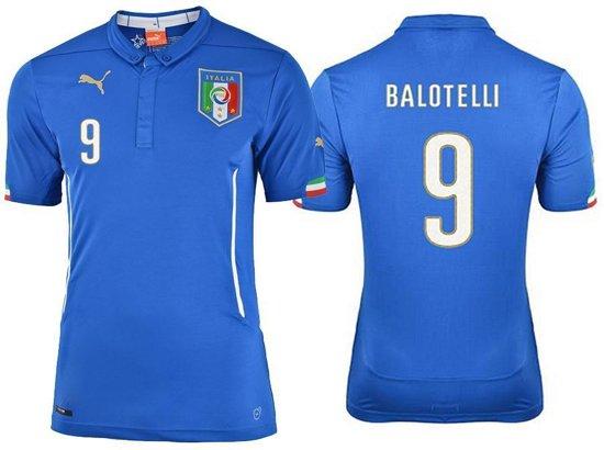 Puma Italie  Thuis Shirt - Balotelli - Nr 9 -  Kleur Azzuri Blauw - Maat XL in Boschkens