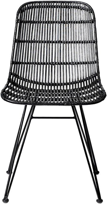 Bloomingville rotan stoel zwart wonen for Rotan eettafel stoel