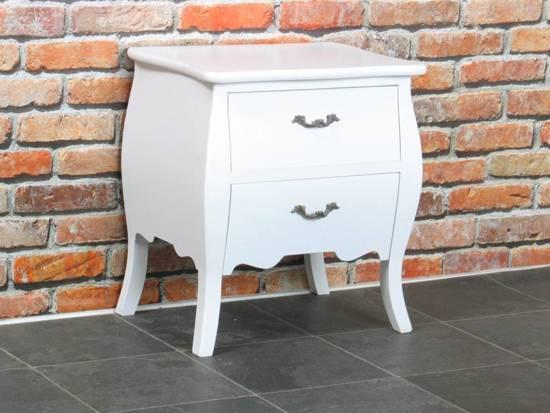 Bilbao nachtkastje wit hout wonen - Wit hout nachtkastje ...