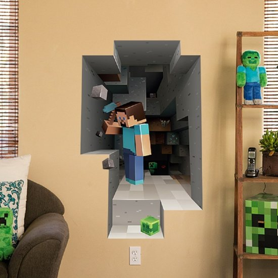 3d minecraft plak poster for Minecraft kinderzimmer