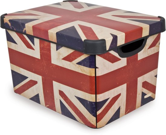 Curver Decobox Stockholm Opbergbox - 25 l - Union Jack