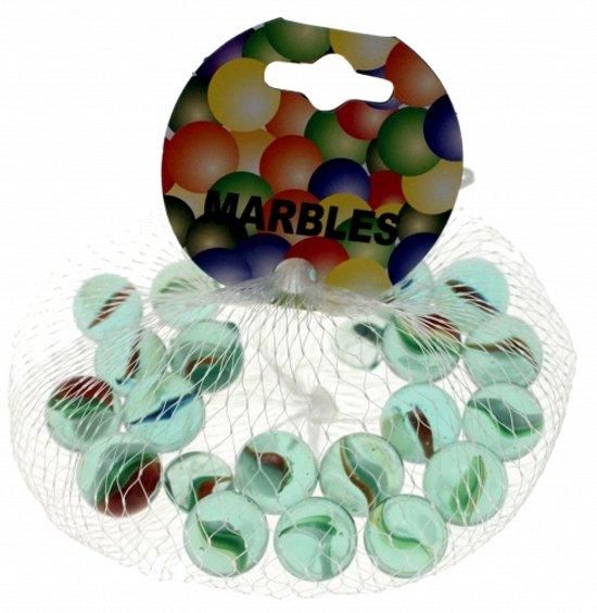 Glazen gekleurde knikkers 21 stuks in Bourtange