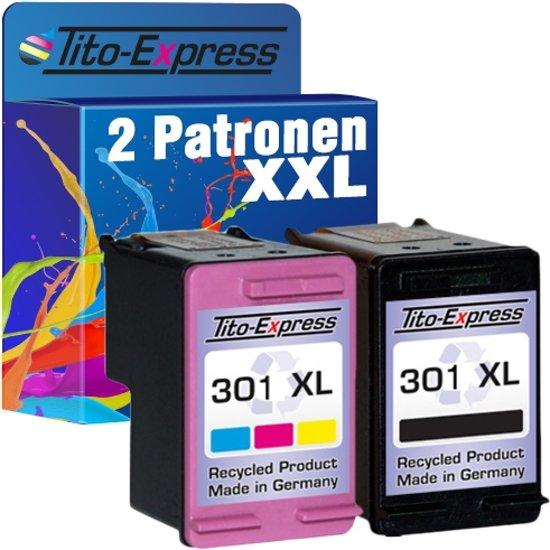 PlatinumSerie® voordeelset 2 Cartridge/Patronen compatibel voor HP 301 XL Black & Color met chip zodat de vulstand weer gaat
