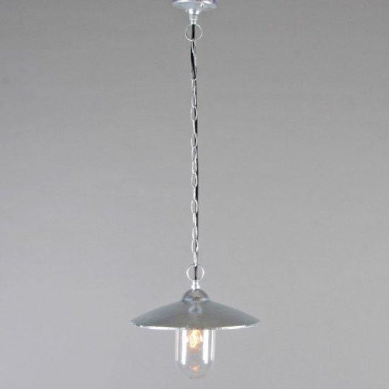 Qazqa hamburg hanglamp zink wonen - Kleur grijs zink ...