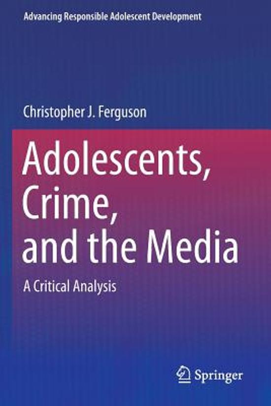 an analysis of the violent crimes committed by todays adolescents Con nement together conspire to make it more likely that incarcerated teens will engage signi cant higher levels of substance abuse, school dif culties, delinquency, violence percent less likely to commit future crimes than youth that have been incarcerated16.