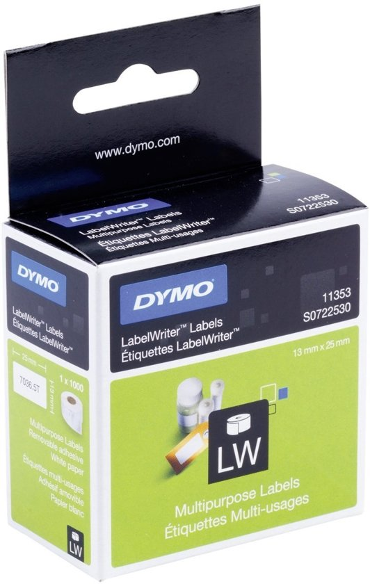 Labels/Multi-purpose 12mmx24mm White