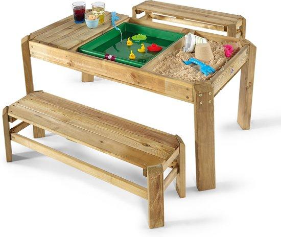 Plum Premium houten speeltafel met bankjes in Oudekapelle