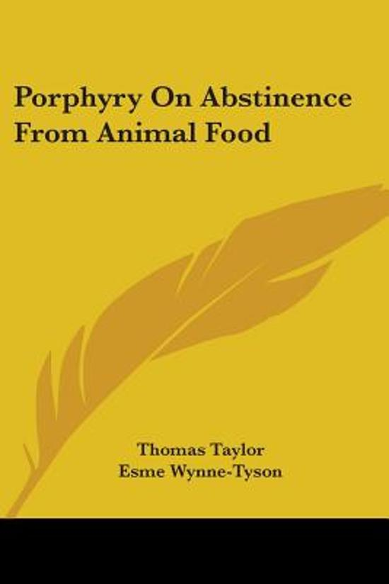 an essay on abstinence from animal food 1999-9-10  pros and cons of vegetarianism pros and cons of vegetarianism  cholesterol is only found in animal foods,  whenever you cut a food.