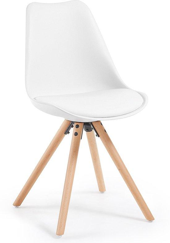Laforma ralf eettafel stoel wit set van 4 for Goedkope witte stoelen