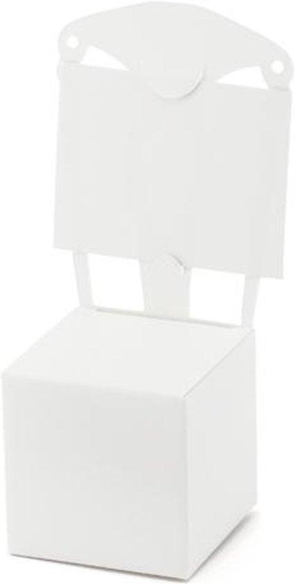 Bedank doosje stoel met kaartje wit (10st) in Veldhunten