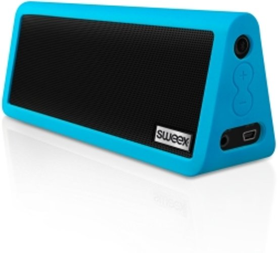 bluetooth portable stereo speaker rock star blue. Black Bedroom Furniture Sets. Home Design Ideas