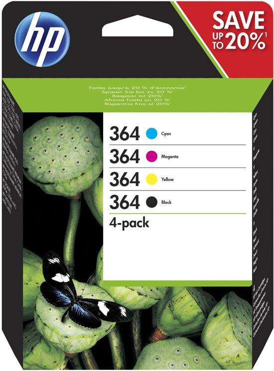 HP 364 - Inktcartridge / Cyaan / Magenta / Geel / Zwart (N9J73AE)