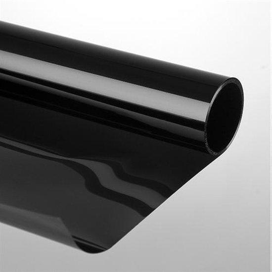 Zonwerende krasvaste raamfolie 75 x 300cm zwart for Pellicola a specchio adesiva