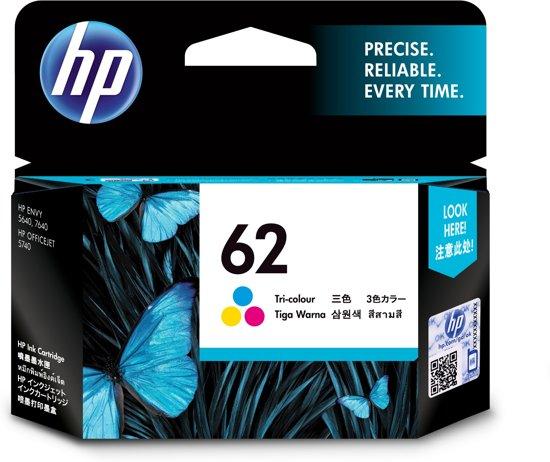 HP 62 - Inktcartridge / Kleur  (C2P06AE)