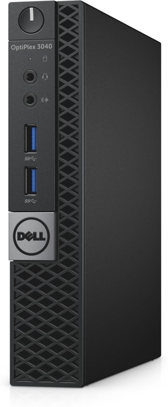DELL OptiPlex 3040m 3.2GHz i3-6100T 1.2L sized PC Zwart