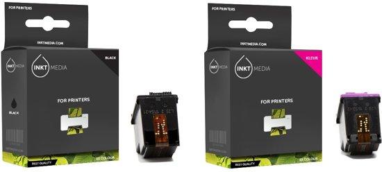Merkloos - Inktcartridge / Alternatief voor de HP 338/343XL / Zwart / Kleur / Hoge Capaciteit