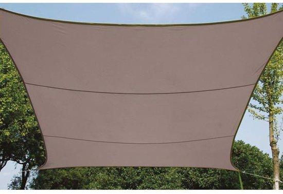 Zonnezeil vierkant 5 x 5 m kleur taupe tuin - Zonnezeil goedkope ...