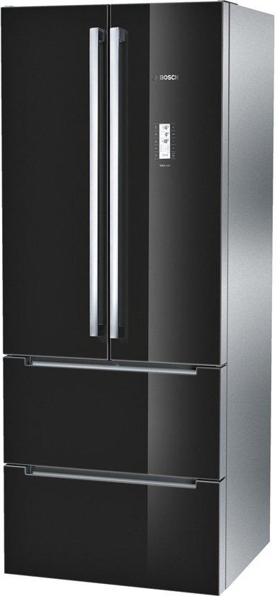 bosch kmf40sb20 serie 8 amerikaanse koelkast zwart color glass. Black Bedroom Furniture Sets. Home Design Ideas